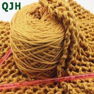 QJH New 16 ações da linha de lã de seda grossa 1ball / 200g de leite Cotton Sweater Hat Scarf Knitting WarmBreathable DIY Crochet Fios odXP #