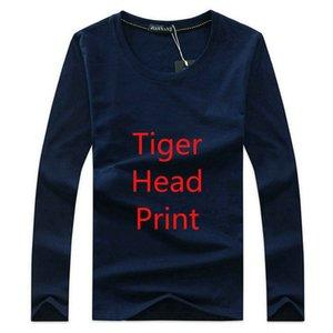 Sıcak satış pamuk Yeni 2020 Mens Tees Artı boyutu uzun Kollu T gömlek 7 Baskılı Pamuk tişört Erkekler Designered bahar Asya boyutunu düşmek