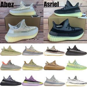 Abez Asriel kanye west v2 running shoes reflective cinder Eliada sulfur oreo israfil flax desert sage Marsh linen mens womens Sneakers