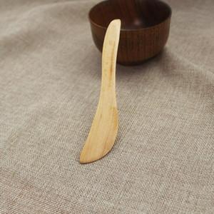 500PCS سكين نمط قناع خشبي اليابان زبدة سكين مربى البرتقال عشاء سكين الخشب كعكة الجبن جام الموزعة Tabeware DHD1108