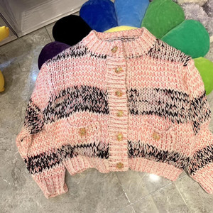 femmes haut de gamme Bouton Cardigan en maille boutonnière Cardigan multicolore lettre impression chandail à manches longues Cardigan tops manteau Mode Femmes