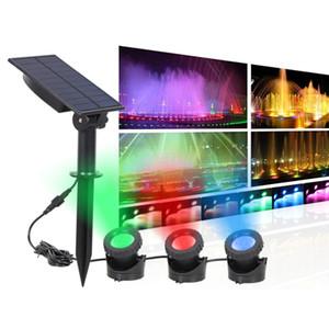 Solar Powered Spotlight LED di paesaggio all'aperto Vigile Notturno Fish Tank luce luce solare, angolo di illuminazione regolabile