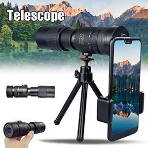 4K 10-300X40mm súper teleobjetivo zoom telescopio monocular portátil para recorrido de la playa Soporta teléfono inteligente para tomar fotografías #Z T200821
