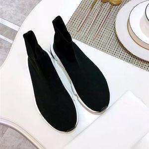 Brand Designer Women's Shoes Couple Fashion Flats Women Casual Platform Shoes Men Women Sock Walking Footwear Socks Boots 35-45