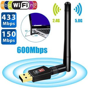 cgjxs 600 Mbps USB-WiFi-Adapter Dual Band 5 .8ghz 2 .4ghz 802 .11ac Rtl8811 600m Wireless USB-Wi -Fi-Adapter mit Antenne