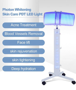 Vertical type LED PDT photon beauty device light therapy anti-acne wrinkle removal skin rejuvenation skin care spa machine