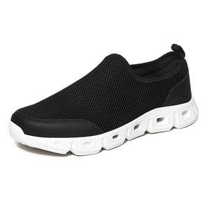 PUPUDA Männer Freizeitschuhe Leichter Sport-Turnschuh-Männer Sommer-Schwarz-Large Size Slip-on-Loafers Breathable Klassische Schuhe 2020