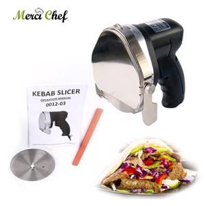 6pcs / Lot automatique électrique Doner Kebab Slicer Pour Shawarma, Kebab Couteau, Kebab Slicer, gyros Couteau, Gyro Cutter certification CE