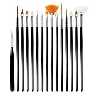 15pcs sets nail painted flower pens art Brush Women Art Design Nail Paint Nail Tools Drawing Professional Decor