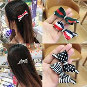 ins edge Internet celebrity cute lady bow with diamond bangs hairpin simple clip