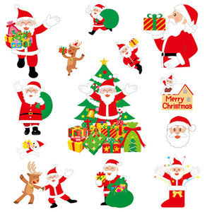 New Year Home Decor Current Christmas Holiday Window Glass Electrostatic Paste Sticker Decoration Exquisite Cartoon Room