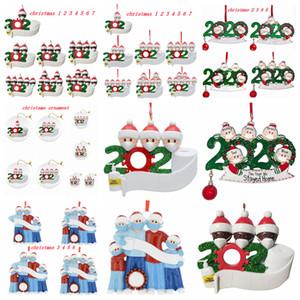 Рождественская елка украшение украшения партии подарки с фломастером персонализированной семьей из 7 Украшения Дистанцирования снеговика кулон FFA4448