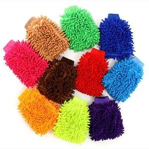 Guantes de coches lavado de guantes de limpieza del Chenille polar de coral anthozoan esponja de tela lavada coche limpio guante mitón mitón estupendo del hogar DHA72