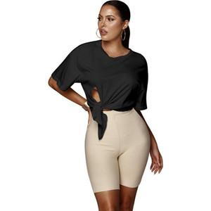 5 Color Nuevo encaje sexy encima irregular de manga corta para mujer camisa del color sólido en cortocircuito la camiseta del cuello de O Casual