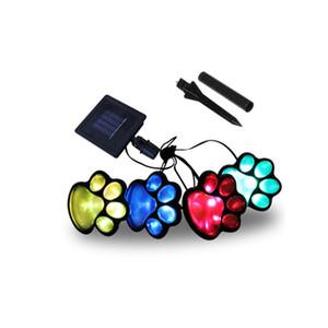 Солнечный свет Footprint Солнечного света двор Открытый пейзаж свет для наружной отделки с 4LED Фестиваль украшение crestech