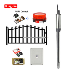 Single Automatic Gate Opener Kit Solar Powered Gate Operator 660 pounds 8 feet for Farm, Fences, Outdoors(Waterproof Design)