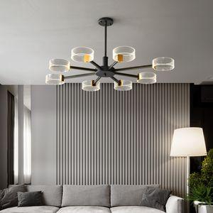 Modern Avize Işık Lüks İskandinav minimalist Avize Oturma odası Yatak odası Yemek odası Ev Lambalar 110v 220v