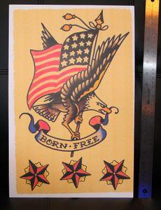 Born Free EUA Eagle Sailor Jerry Decoração pintura a óleo sobre tela Wall Art Canvas Pictures 200905