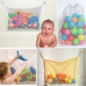 1pcs 37*37 cm Baby Bathroom Mesh Child Bath Toy Bag Net Suction Cup Baskets