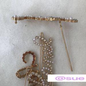 7.5X2cm классического жемчуга с клипами камня моды волос inspired_CC шпилька имеют штамп CC ювелирные VIP-карты