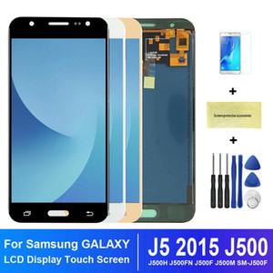 Для SAMSUNG Galaxy J5 2015 J500 LCD дисплей J500H J500FN J500F J500M SM-J500F сенсорного экрана Digitizer