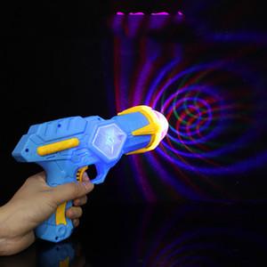 New Children's Shining Toy Gun Cool Iluminación eléctrica Proyección Rotary Dynamic Music Kids Indoor Outdoor Products Regalo de vacaciones