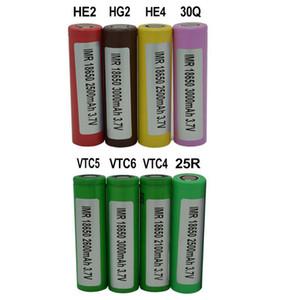 100% de alta calidad VTC4 VTC5 VTC6 HE2 HE4 Hg2 25R 30Q 18650 2500 18650 30000mAh 3.7V baterías recargables de litio