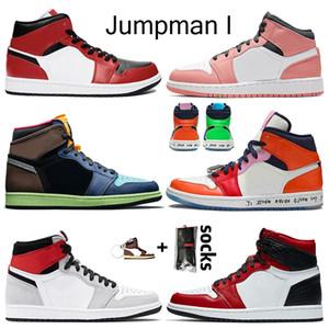2020 Лучшие качества Mid Чикаго Черный Toe Розовый кварц Ретро женщин баскетбольной обуви 1S Jumpman 1 High OG Bio Hack мужские кроссовки инструкторов