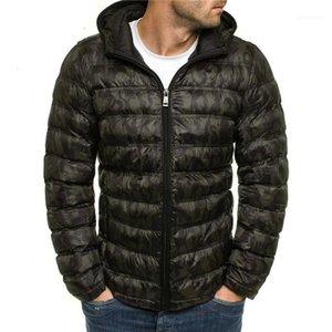 Designer casual Maschi abiti scuri Grain Mens cotone PIUMINI Moda Panelled Zipper Mens con cappuccio in cotone PIUMINI