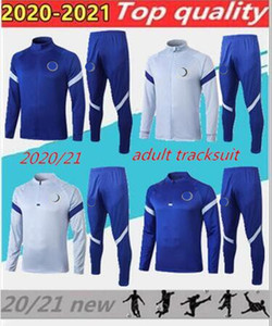 Adulte 20 21 sportswear formation de football hommes vêtements de formation de football 2020 2021 Kante enquête de pied de sport de jogging de football chandal