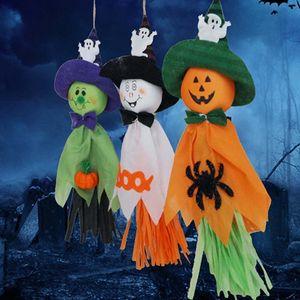 Halloween Pumpkin Ghost Hanging Decoration Indoor Outdoor Specter Party Ornament Pendant Props Halloween Event Party Decor GWF841