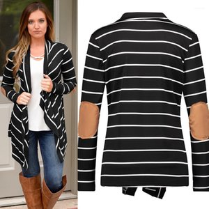 Casual Langarm-Cardigan Donna Mäntel Mode Unregelmäßige Womans Designer Mäntel Kontrast-Farben-Patchwork-Revers-Neck Coats