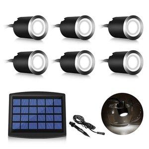 Güneş Bahçe Lambaları 6LED Beyaz Peyzaj Spotlight Projeksiyon Işık İçin Bahçe Havuz Pond Dış Aydınlatma Sualtı Lambaları Su geçirmez