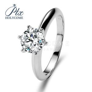 6,5 milímetros withe rodada moissanite comprar uma pedra começa 2020 venda quente 925 anel de prata VVS1 desconto recomenddation populares