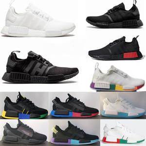 2020 ولدت NMD R1 V2 رجالي الاحذية أسود أبيض أوريو OG كلاسيك للرجال النساء المدبر اليابان الرياضة المدربين أحذية رياضية