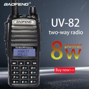 Walkie Talkie Baofeng Ture 8W UV-82 플러스 10km 장거리 강력한 휴대용 CB VHF / UHF 양방향 라디오 아마도 8 와트 트랜시버