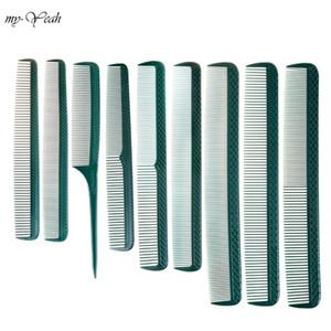 9pcs set Green Hair Comb Set Anti-static Hairdressing Comb Tangled Straight Hair Brush Girls Ponytail Salon Care Tools