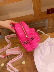 디자이너 - 배낭 MOM 여성 디자이너 가방 명품 지갑 가방 형광 컬러의 백팩 패션 여성 지갑 가방