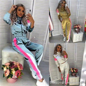 Apparel Womens Sports Designer 2Pcs Tracksuits Stand Collar Long Sleeve Fashion Female Clothing Sport Style Casual