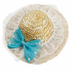 Щенок Hat соломенные шляпы Pet аксессуары Плетеный собаки Симпатичные ручной гавайский Стиль Регулируемая Pet Sun Hat Чихуахуа Домашние животные Принадлежности JBRl #