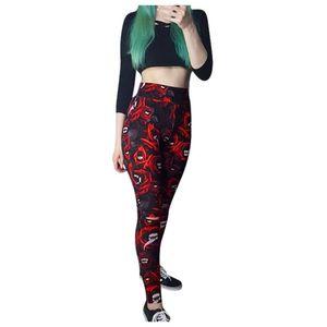 Gothic yoga fitness Calças Mulheres compressão elástica da aptidão da ginástica do esporte impressos Leggings Tights Correndo Workout Sportswear! 30g3
