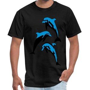 Baskı Dolphin - Yunuslar kaplan kral gömlek homme u2 t shirt artı boyutları s-5XL hip hop