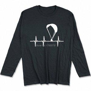Parapendio Ecg maglietta Primavera Autunno Uomini cotone a maniche lunghe T-shirt divertente Hip Hop Tees Tops Harajuku Streetwear Qm24 #