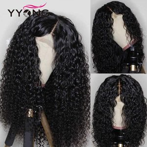 YYong 1x4& 13x6 T Part HD Transparent Lace Front Human Hair Wig Water Wave Lace Frontal Wigs 120% Remy Hair 28 30 inch