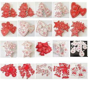 크리스마스 선물 장식품 눈송이 사랑 펜던트 오각형 목재 칩 펜던트 크리 에이 티브 나무 크리스마스 선물 크리스마스 장식 OWA792