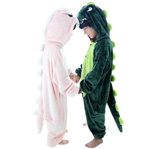 Kids Dinosaur Costume Animal 3-8 Years Old Sleepwear Children Onesie Pajamas for Boys Girls