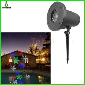 눈송이 프로젝터 램프 장식 레이저 빛 방수 100-240V 자동 이동 실내 LED 풍경 프로젝터 빛 흰색 RGB