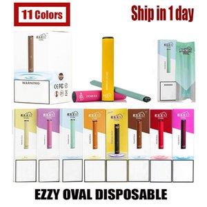 Hot EZZY ovale à usage unique dispositif Starter Kit de cartouche avec code de sécurité à usage unique EZZY Vider Vape Stylos 280mAh Batterie DHL VS Helix