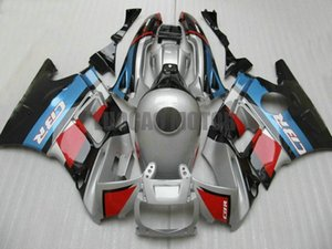 ABS Fairings kit+gifts for HONDA CBR600 F3 1995 1996 CBR600 95 96 CBR600 F3 95-96 body cover+windscreen #SILVER BLUE RED #71WH4