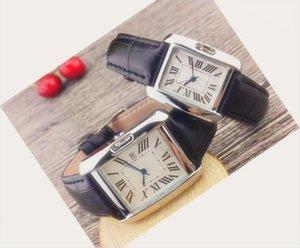 Лучшие Мужчины дизайнер смотреть женщин мужчин вскользь кожа Часы VOLARE Женщины Мужчины Бизнес Кварцевые часы наручные часы с-CARTIER-LOGO